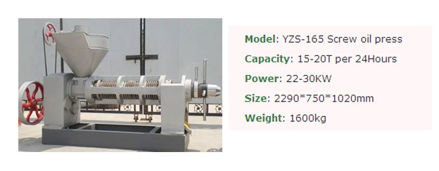 YZS-165 screw press machine
