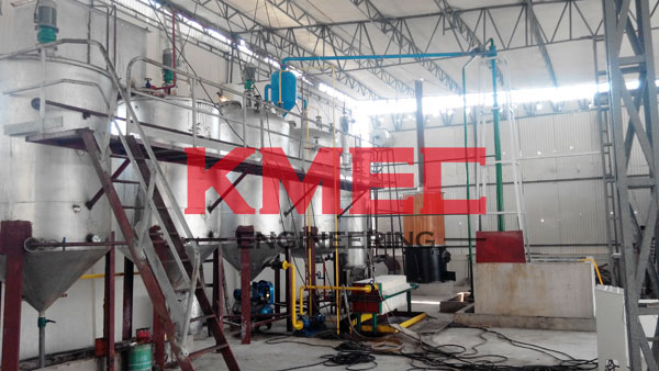 finished fish   oil refinery line
