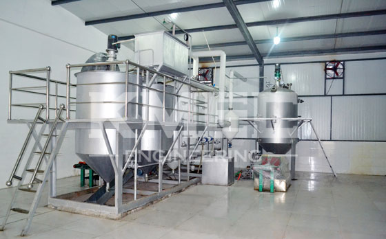 3TPD grape seed refining and dewaxing line