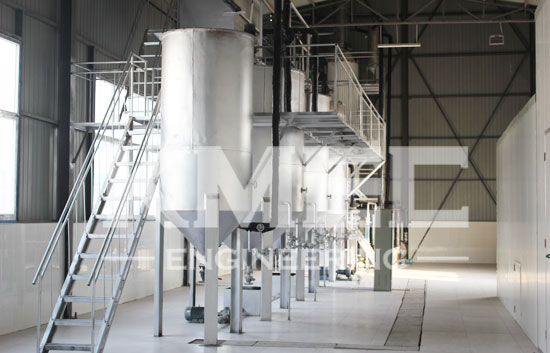 10TPD grape seed oil refining and dewaxing line in Linzhang,China