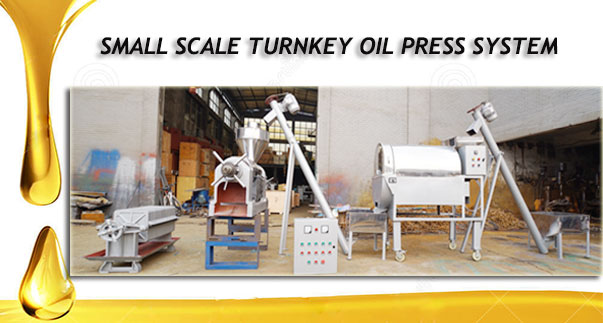 small scale turnkey oil press system China