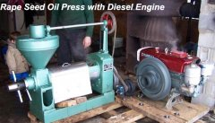 rapeseed oil press with diesel engine